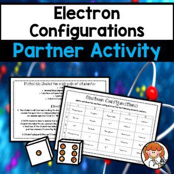 Electron Configurations Partner Activity Teaching Bingo