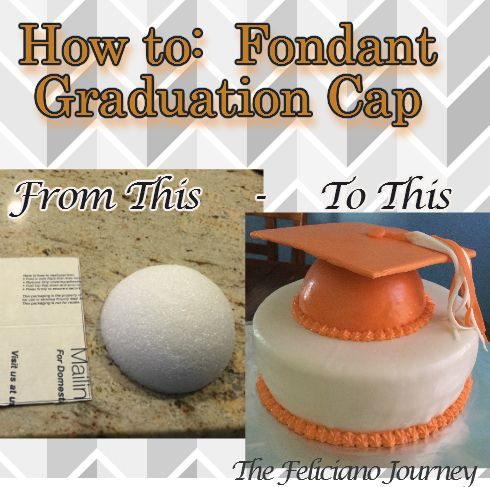 How To Make Fondant Cap And Gown For Graduation Graduation Cap Cake Graduation Cakes Make Fondant