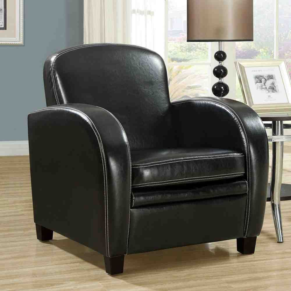 Black leather accent chair faux leather chair leather