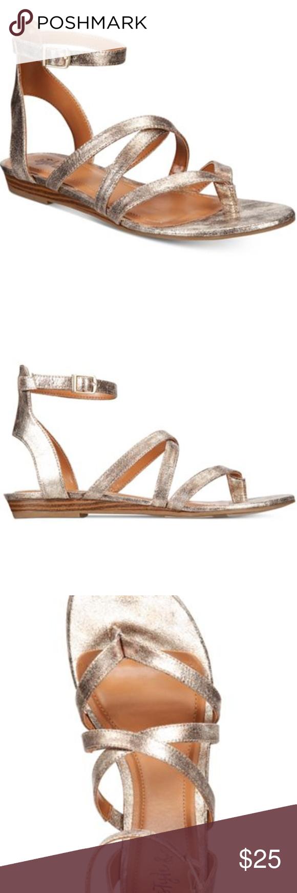 b274005e0c21a Style & Co Bahara Strappy Sandals - NWT Sz. 8 Merging crisscross ...