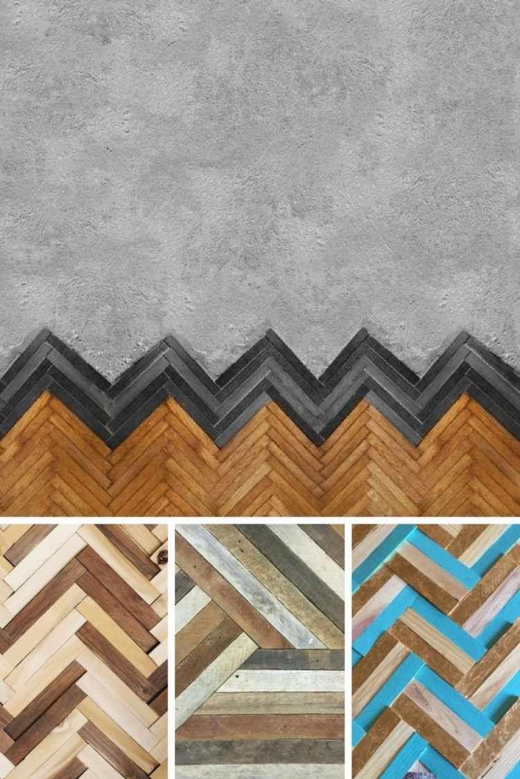 Osez poser le parquet point de Hongrie en bois sur vos murs - inspirations modernes à copier ...