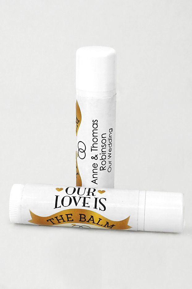 These Chapstick Wedding Favors Are The Balm Personalized Wedding