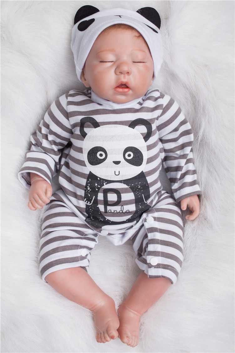 81.53$  Buy here - http://alixn8.worldwells.pw/go.php?t=32717675609 - Adorable 47cm baby-reborn dolls silicone vinyl newborn babies soft real touch alive baby boneca brinquedo 81.53$