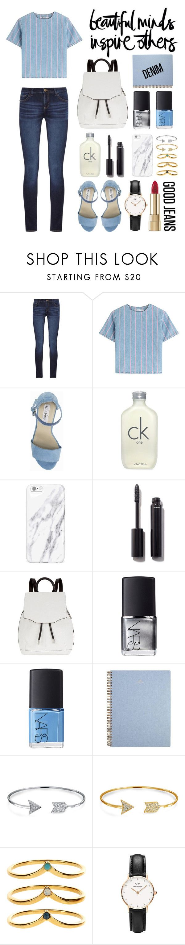 """""""Double Down on Denim"""" by kiki11301 ❤ liked on Polyvore featuring DL1961 Premium Denim, T By Alexander Wang, Nly Shoes, Calvin Klein, Chanel, Butter London, rag & bone, NARS Cosmetics, Bling Jewelry and Accessorize"""