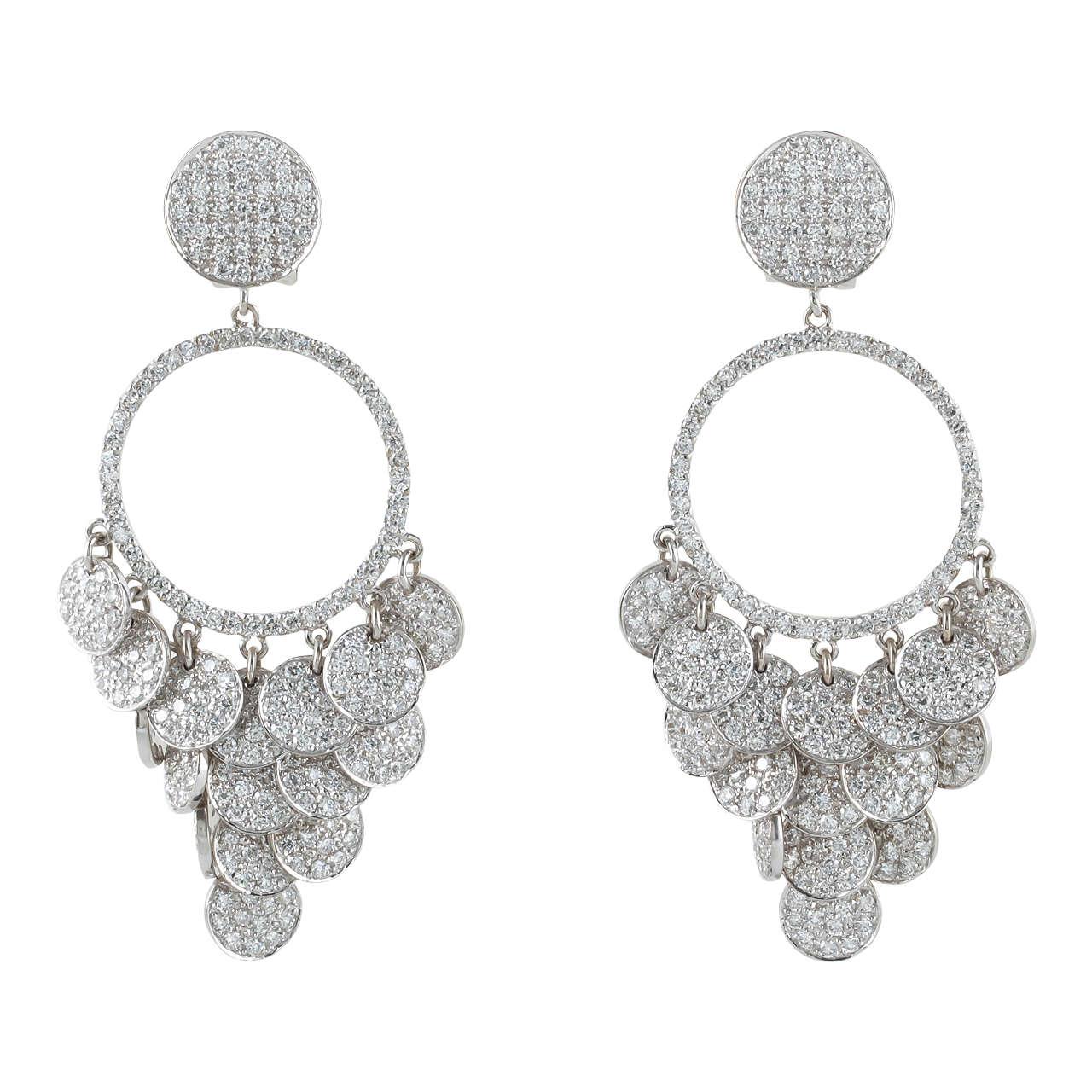 Pave diamond chandelier earrings diamond chandelier earrings pave diamond chandelier earrings arubaitofo Choice Image