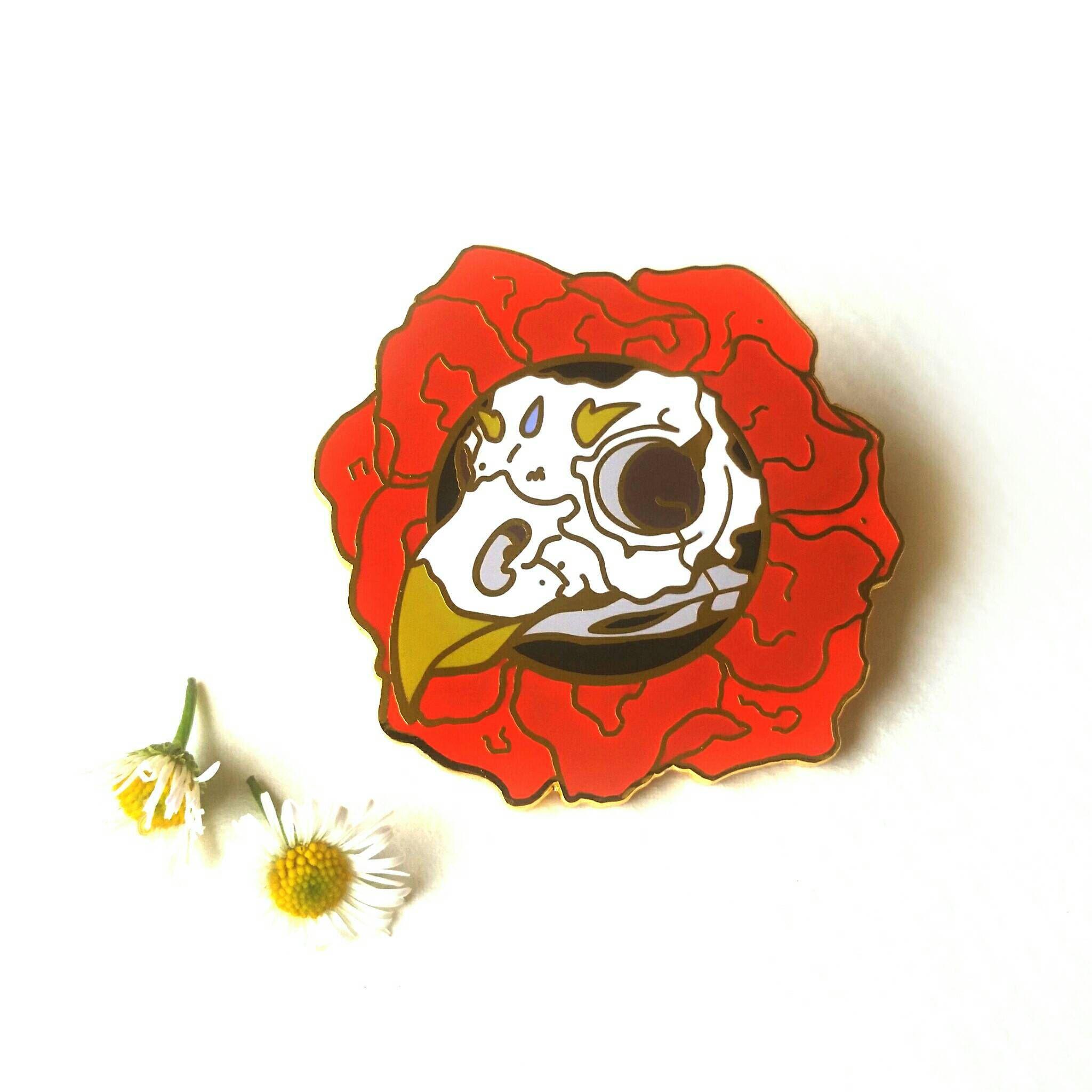 1c04ea3b93935 Bird Skull Hard Enamel Pin by AshleaBechaz on Etsy