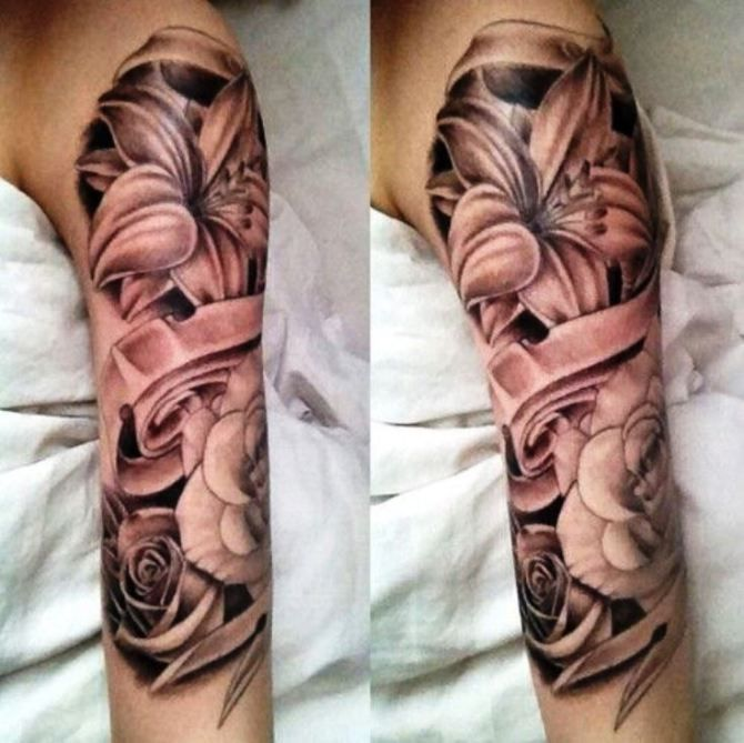 20 Lily Tattoos Girl Half Sleeve Tattoos Half Sleeve Tattoo Sleeve Tattoos