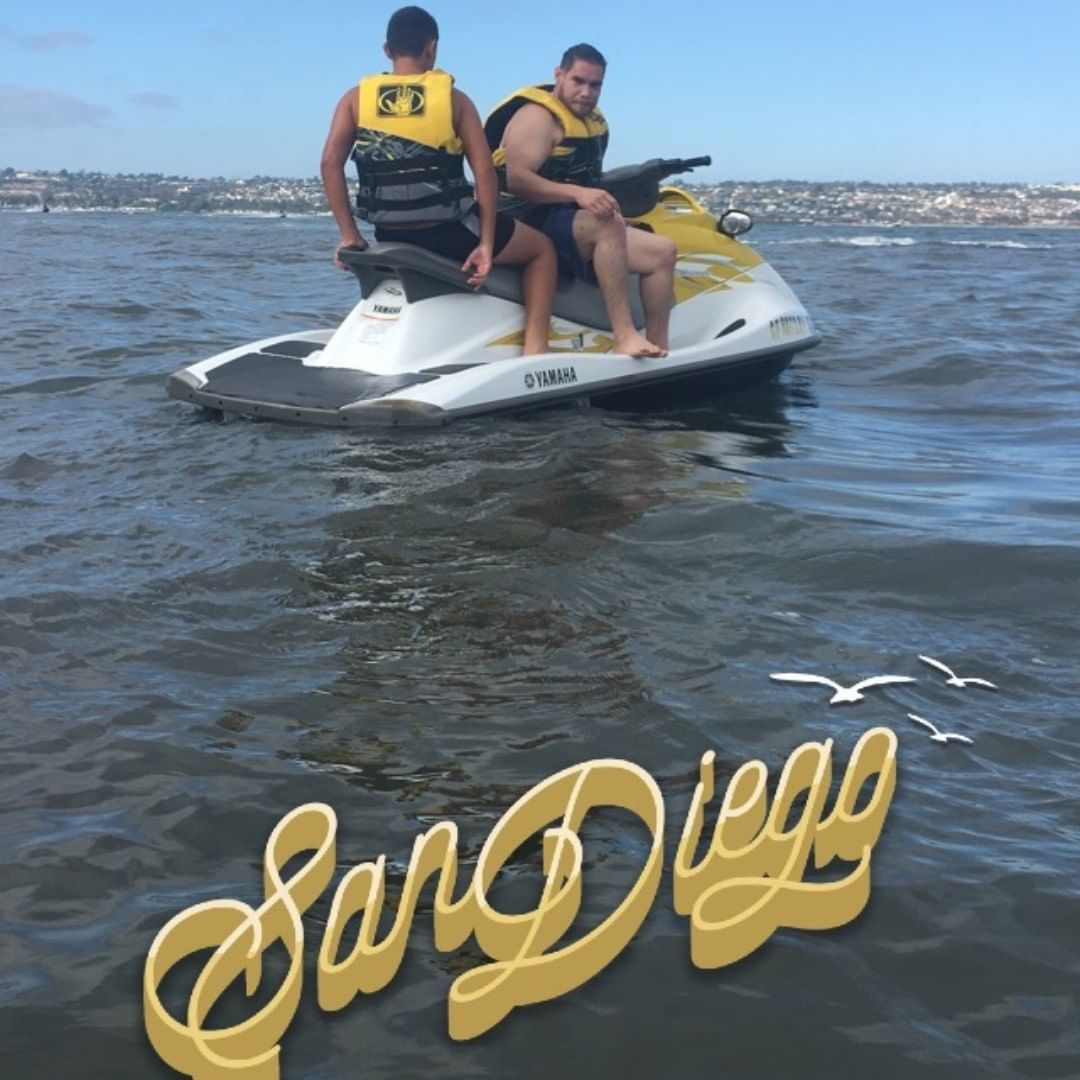 🏊🏼San Diego Life🏝 At a   #cousins     #birthday     #party   at the   #beach     #my    #son    #on    #the     #jetski     #with    #his    #dad    #cooldad     #coolson    #happy    #ha