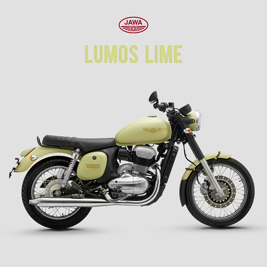 The Jawa Forty Two Lumos Lime Matte Variant New Chapter History