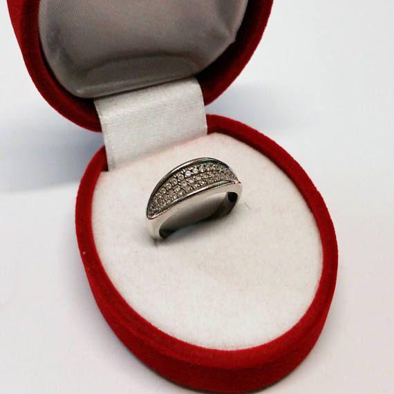 172 mm Silberring Ring Kristallsteine Silber 925 SR636