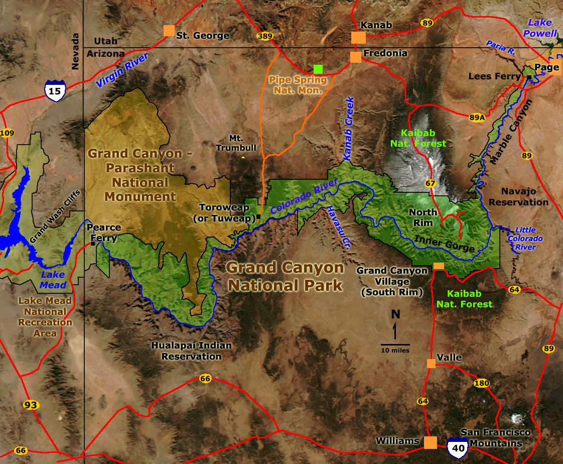 Grand Canyon National Park Map  On The Map Or Click On Next - Map us southwest national parks