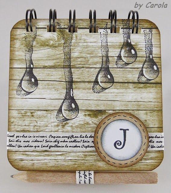 Caro´s Welt: Kalender-Post It -Büchlein Using Designs by Ryn: Trickling Water Set