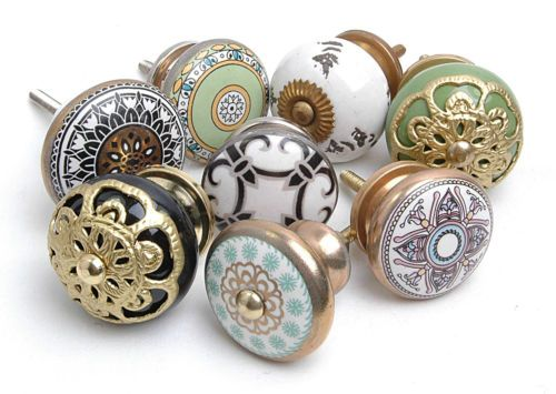 Vintage Style Antique Finished Ceramic Cupboard Knobs Kitchen Door ...