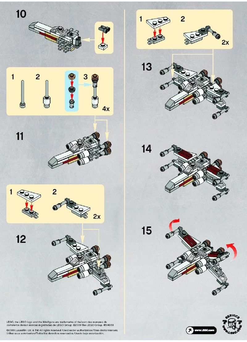 Winglego 30051Lego LegoIdées Plans Star Wars X Et 6gfbyY7