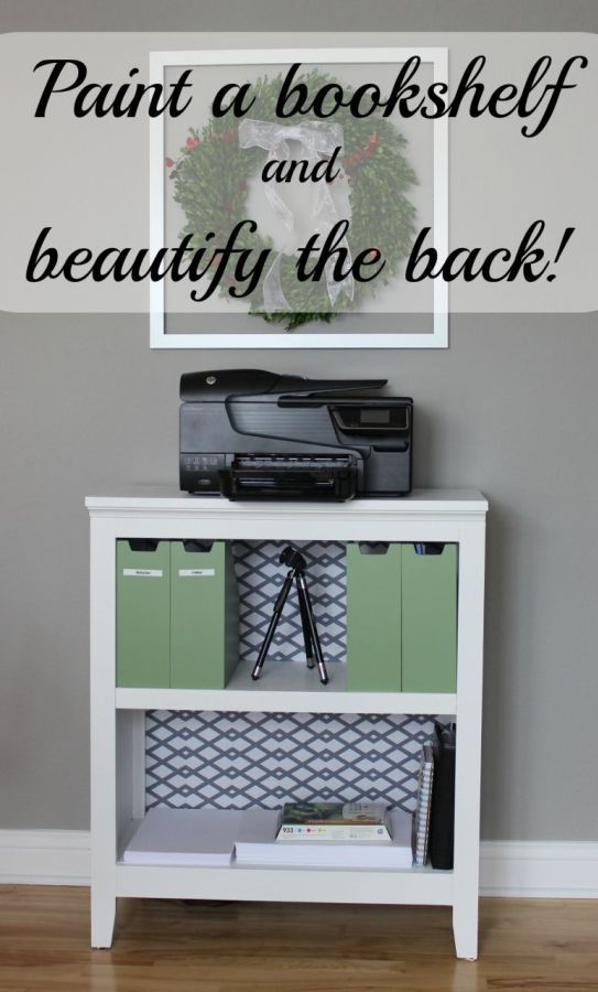 Paint a bookcase and beautify the backing. - Momcrieff