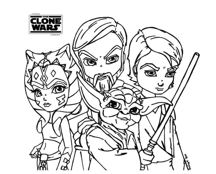 Star Wars The Clone Wars Ausmalbilder Malvorlagen