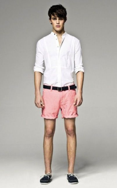 43b1033f Refreshing look with this pink shorts. | Love this Style | Mens ...