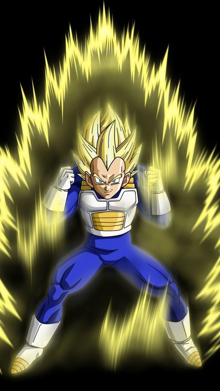 Vegeta, yellow power, anime, dragon ball super, minimal