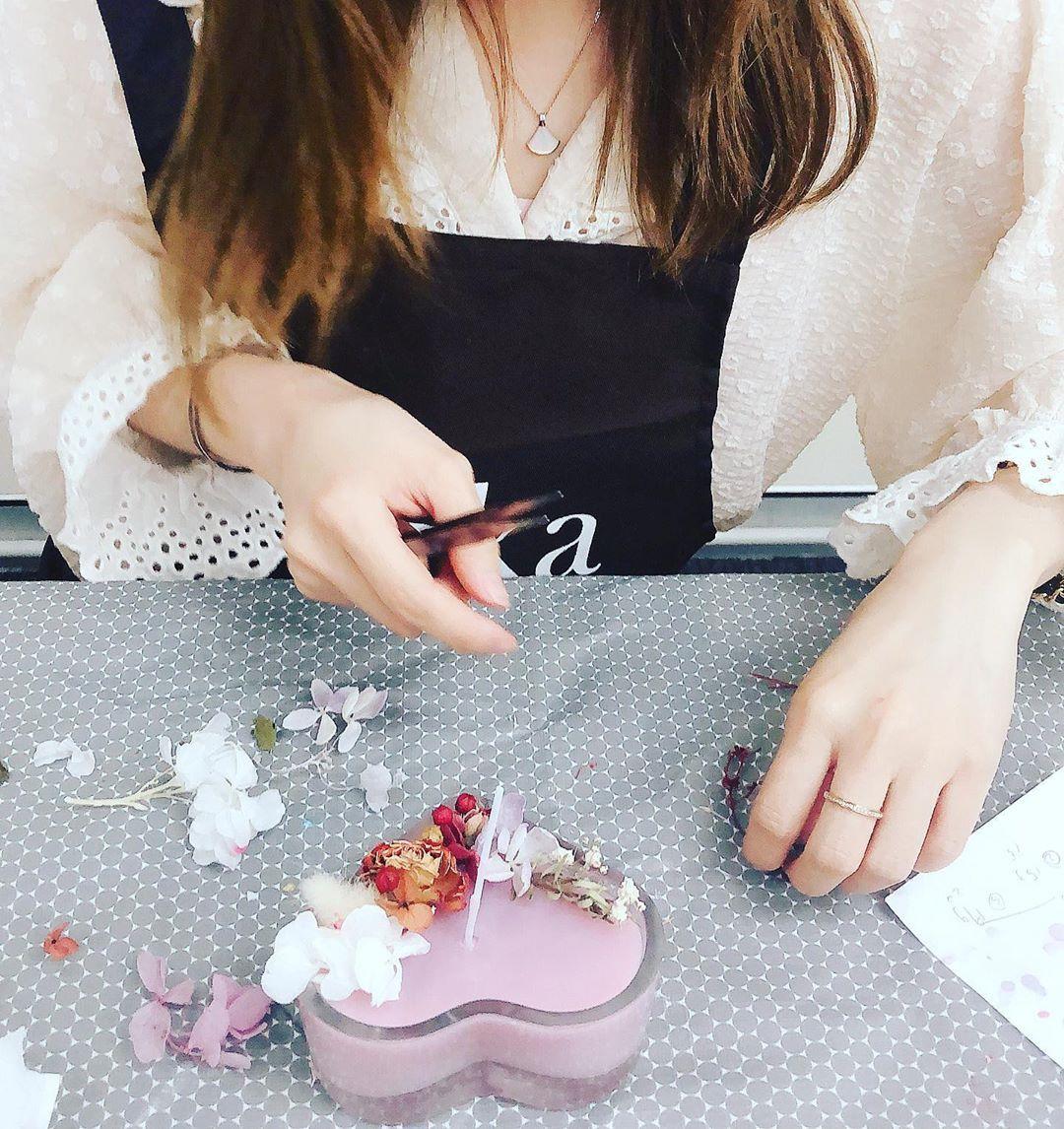 Student S Work Happy Wedding Rikkastudio Natural Craftworkshop Lifeinsydney Handm Handmade Candles Candle Maker Crafts Workshop