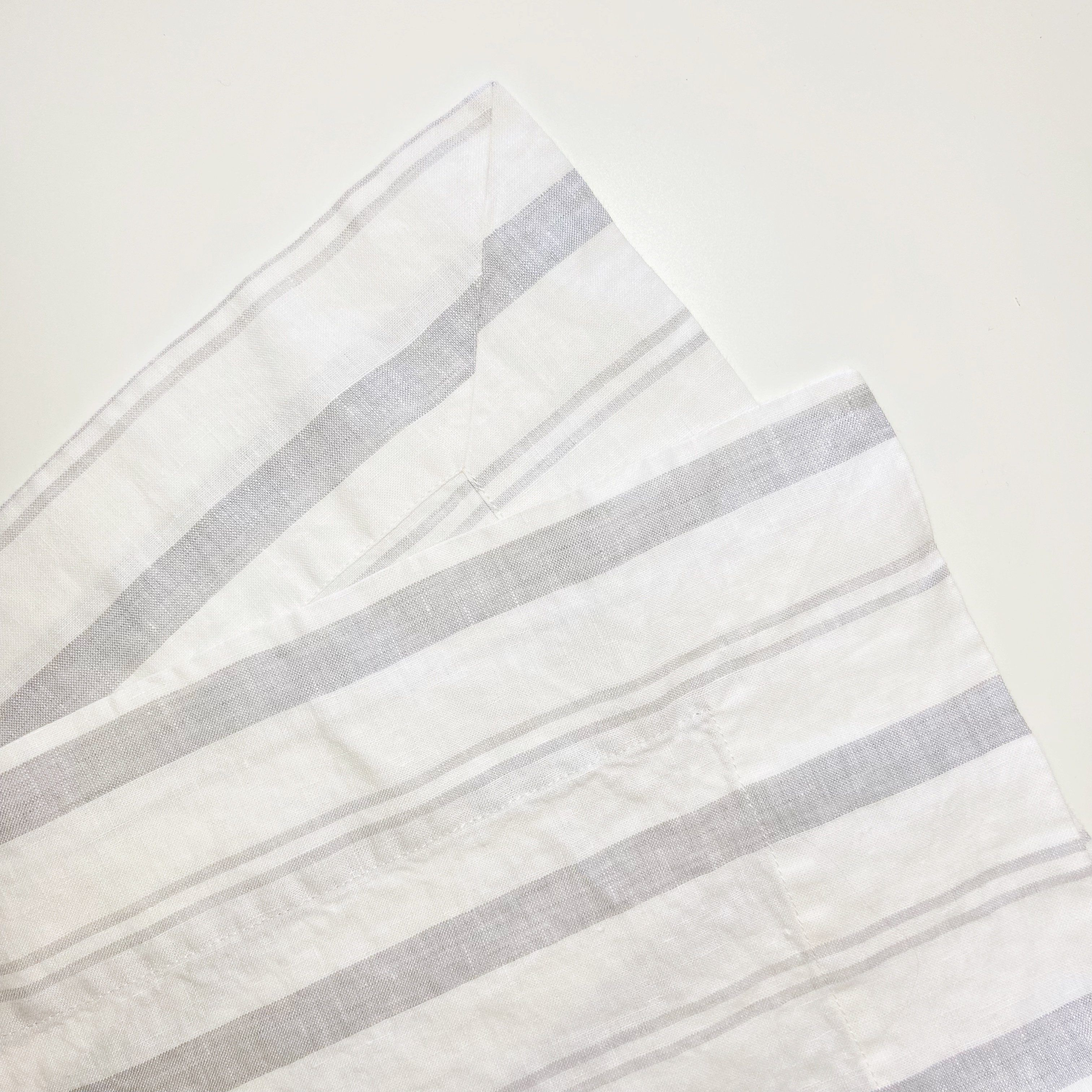 Striped Table Runner - Grey Stripe