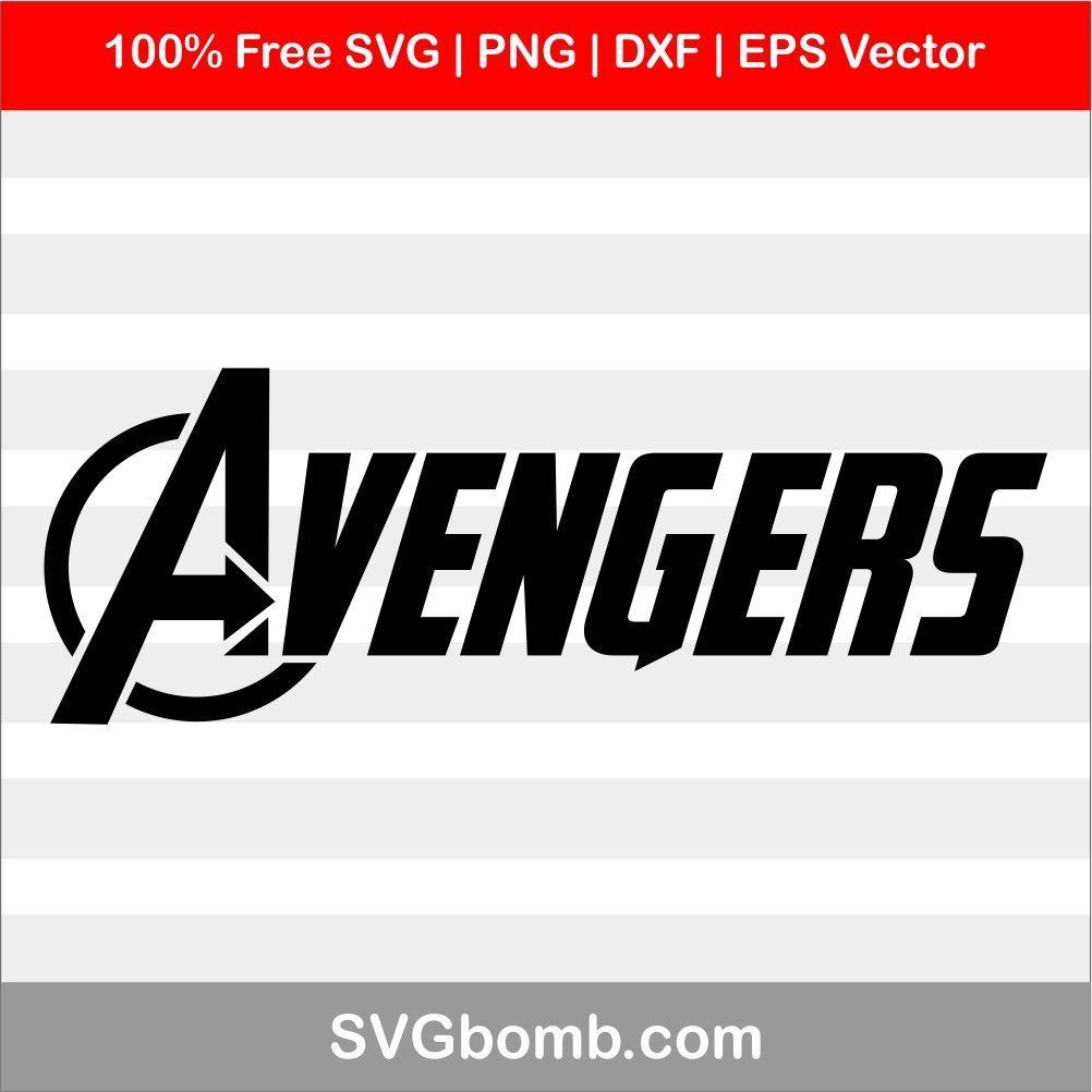 Silhouette Logo Avenger text svg File for cut clipart pdf digital png jpg dxf Cricut