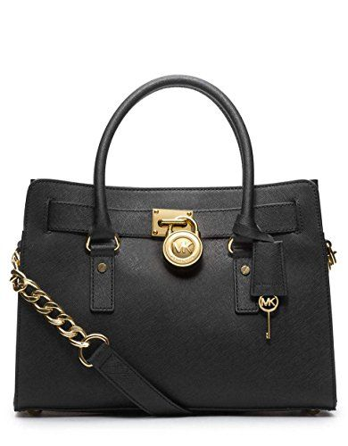 Michael Kors 30s2ghms3l 001 Women S Hamilton Medium Black Saffiano Leather Shoulder Bag Ca Dp B00988luy0 Ref