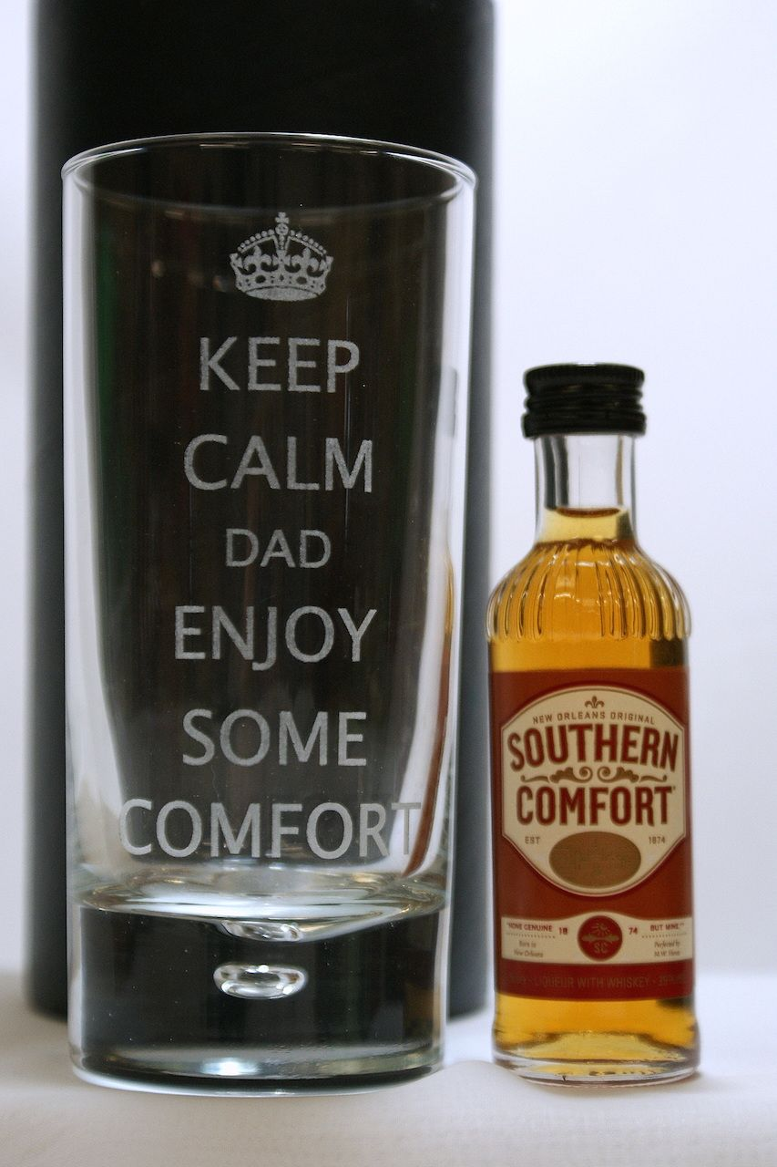 KEEP CALM SOUTHERN COMFORT GLASS Southern Comfort, Free Delivery, Alcohol Gifts, Calm,