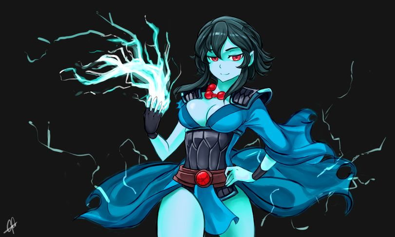 Dota 2 Storm Spirit Female Anime Style Dota 2 Pinterest