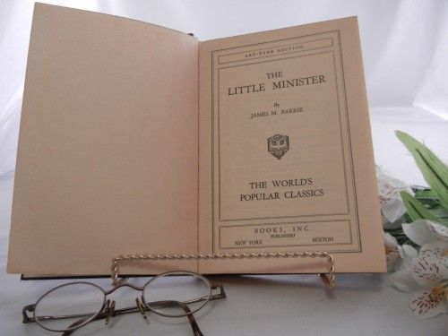 James M. Barrie The Little Minister Book, Scottish Historical Fiction | CandyAppleCrafts - Books on ArtFire