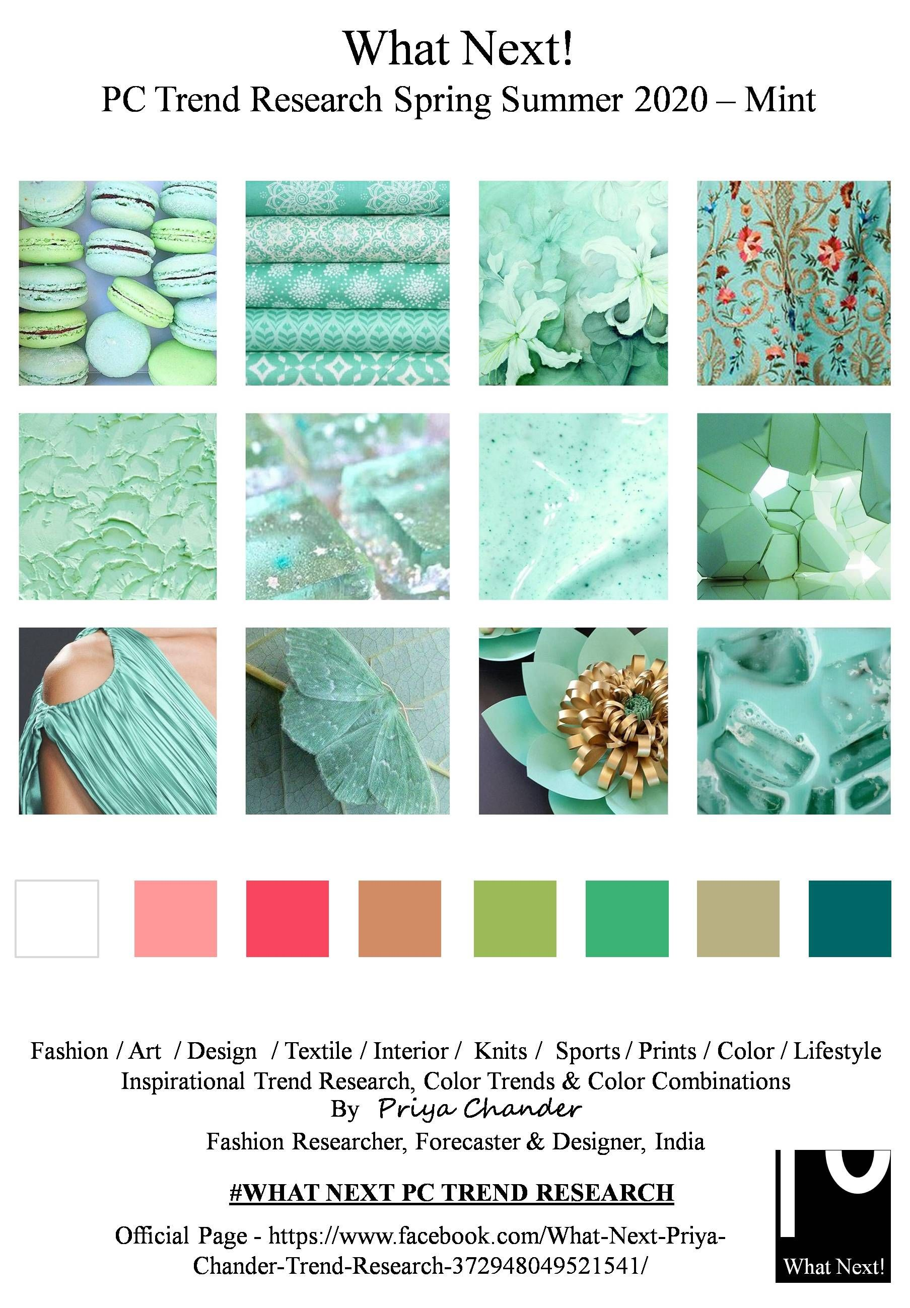 Spring Summer 2020 Color Trends.Ss2020 Mint In 2019 Spring Fashion Trends Color Trends