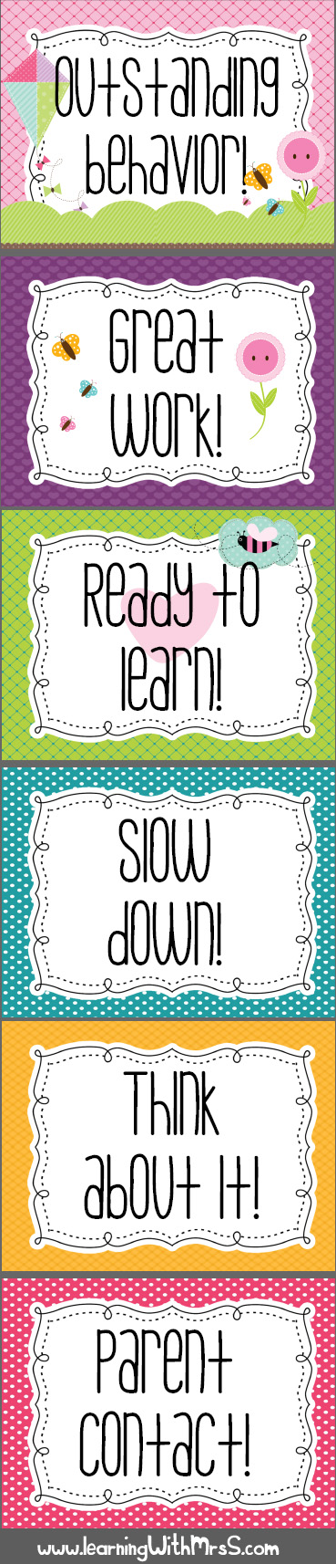 Behavior chart free printable love that it has options for students to go up not just down also rh pinterest