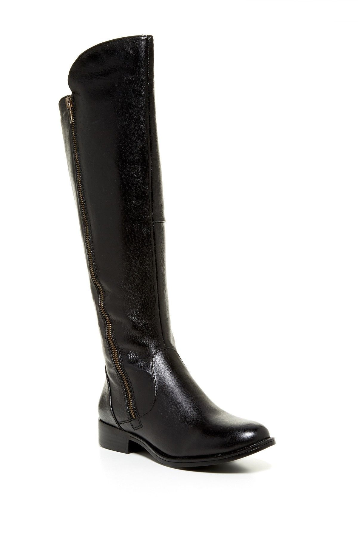 a5ce31dc9ae Steve Madden Black Leather Shandi Tall Riding Boots Size 6 in 2019 ...