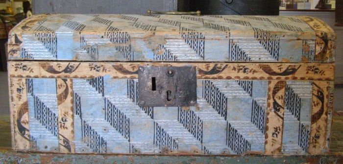 "19th Century Wallpaper Box 21"" x 9"" x 11"""
