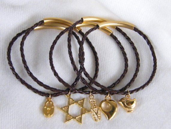 Brown Leather Bracelets by LauraBijoux on Etsy