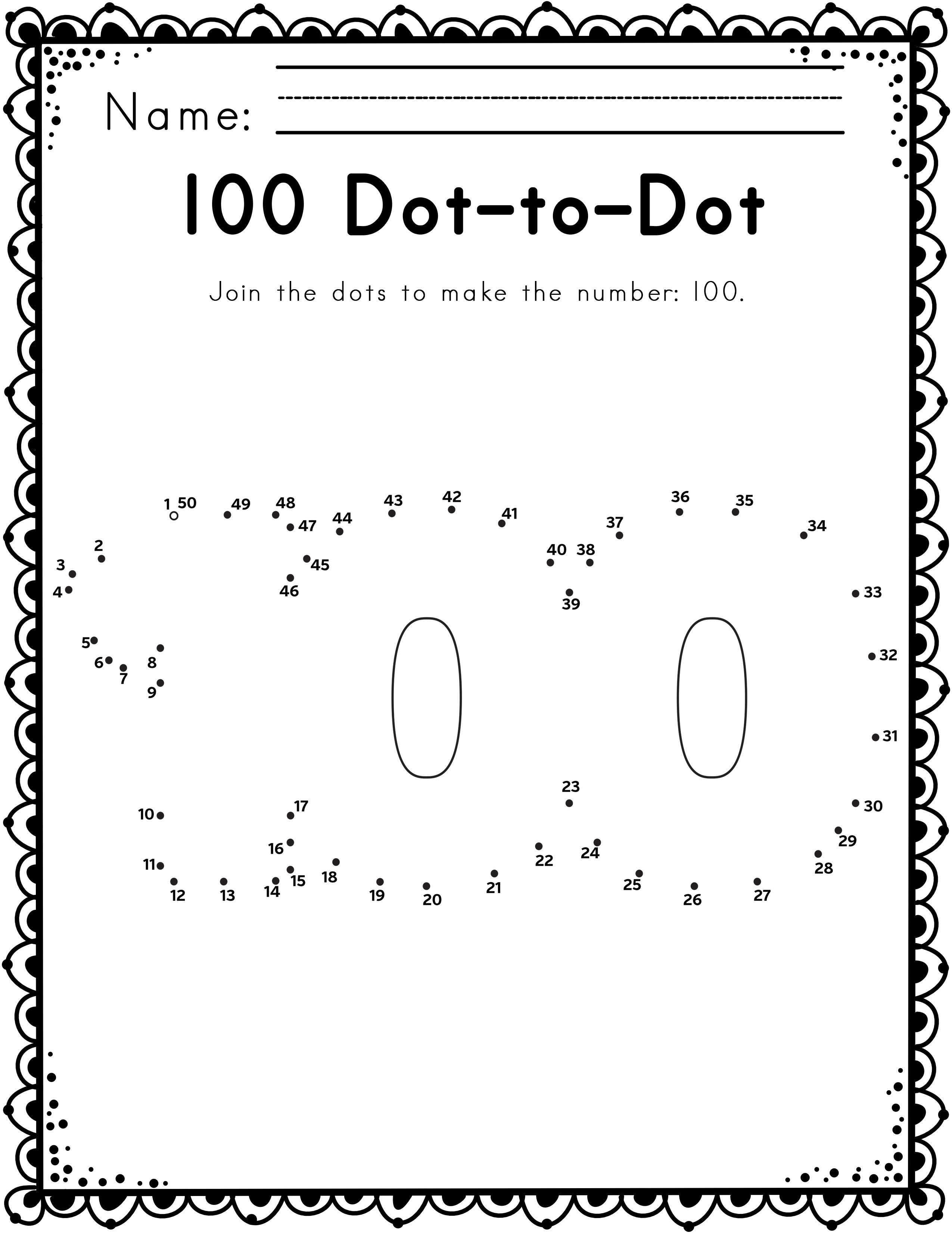 Worksheets For 100th Day Of School Ela Literacy And Math