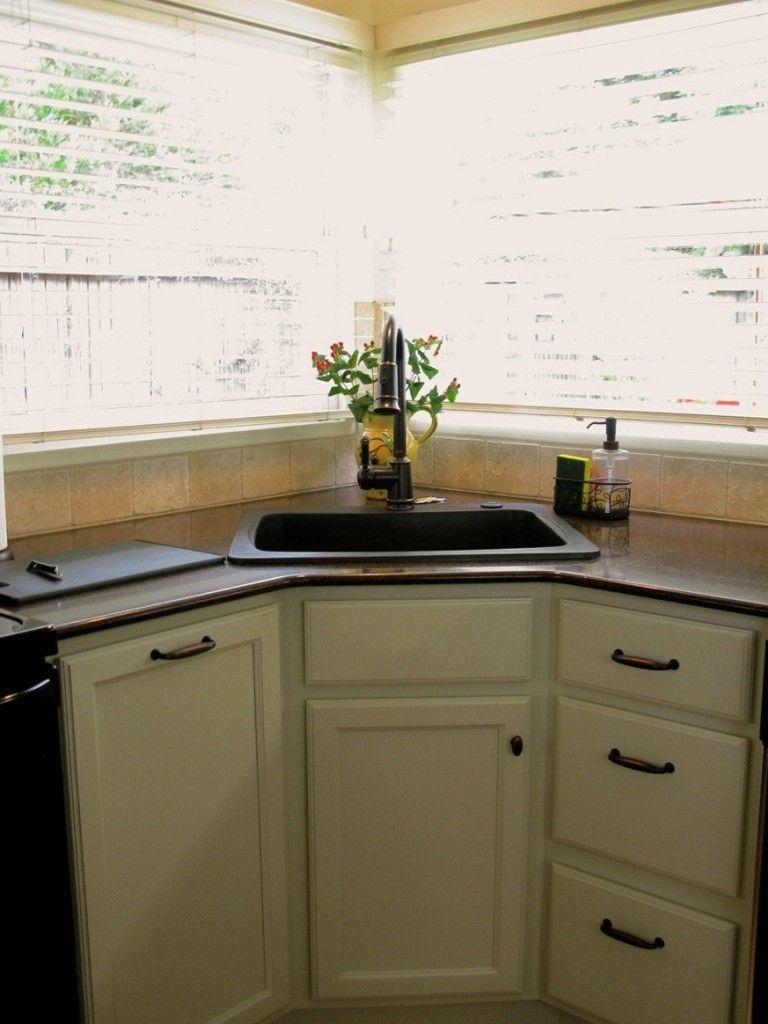 Kitchen: Cute Corner Kitchen Sink Bowl Also Corner Kitchen ...