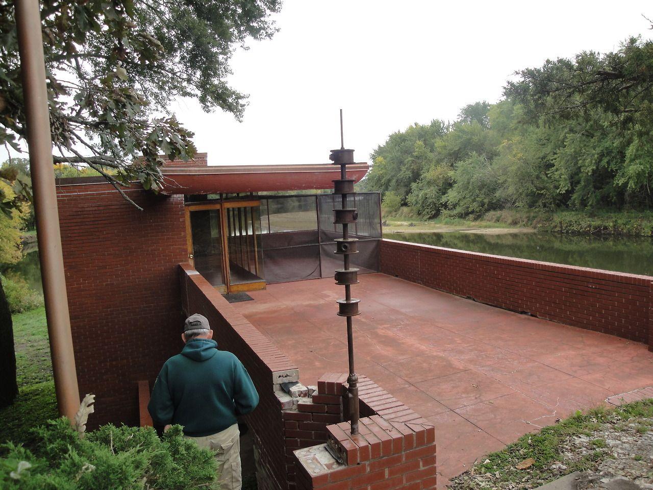 Frank Lloyd Wright Lowell Walter House Quasqueton Iowa 1948 1950 Boathouse Usonian House Frank Lloyd Wright Usonian Usonian