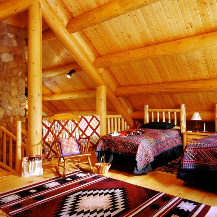 Love this western themed bedroom at the cabin.