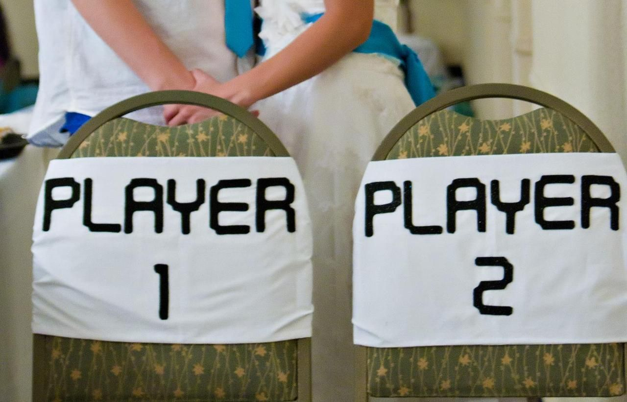 Video Game Wedding Chair Decorations