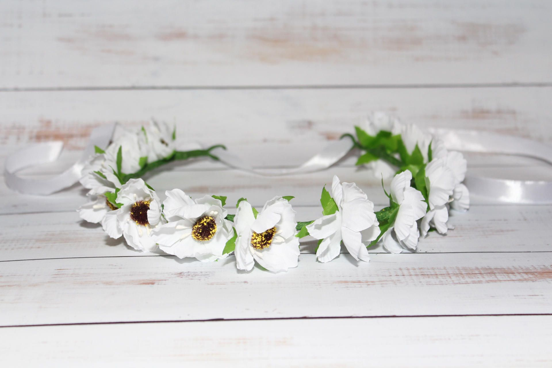 First Communion Flower Crown First Communion Headpiece Flower Girl