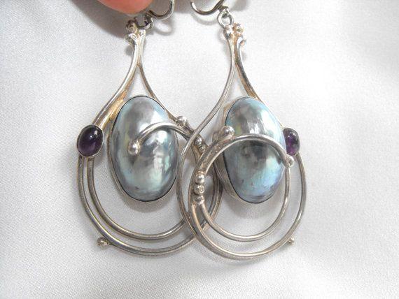 Vintage 925 Silver Custom Dangle Earrings by DeeSweetNostalgia, $250.00 - SOLD