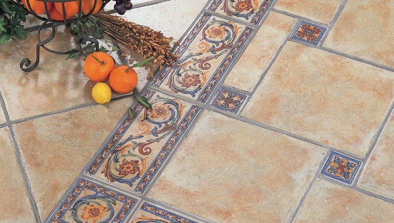 Baldosas para suelos r sticos de efecto envejecido con for Ceramica para exteriores