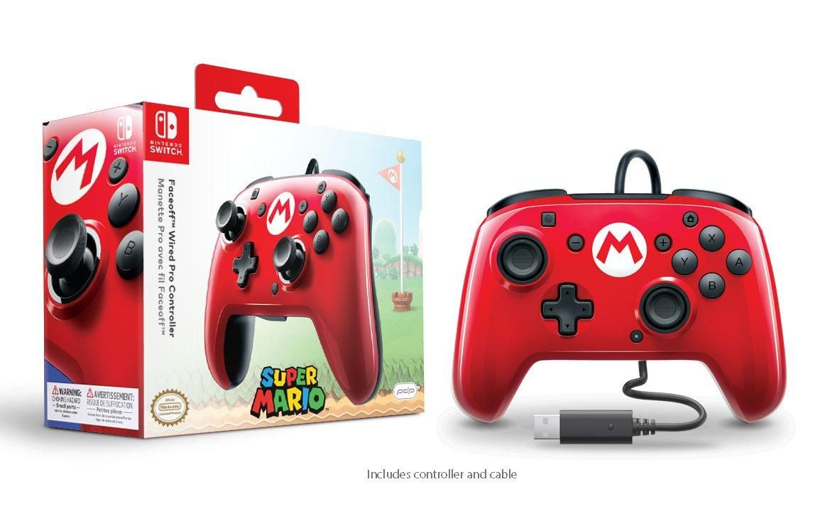 Super Mario Bros M Faceoff Wired Controller For Nintendo Switch Nintendo Switch Gamestop Nintendo Switch Nintendo Mario Joy