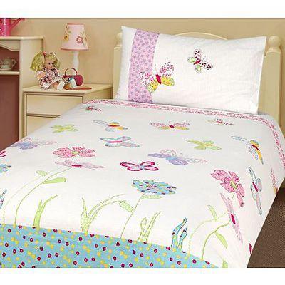 Asda Butterfly Flowers Duvet Cover Single Single Bedding Sets Bedding Sets Bed