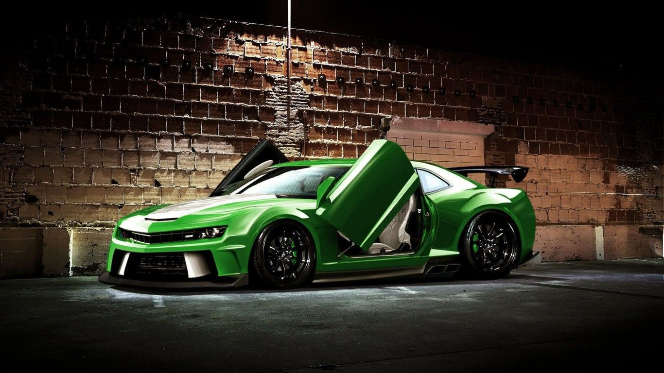 Green Sports Car Modified Background Cool Sports Cars Chevrolet Camaro Sports Car