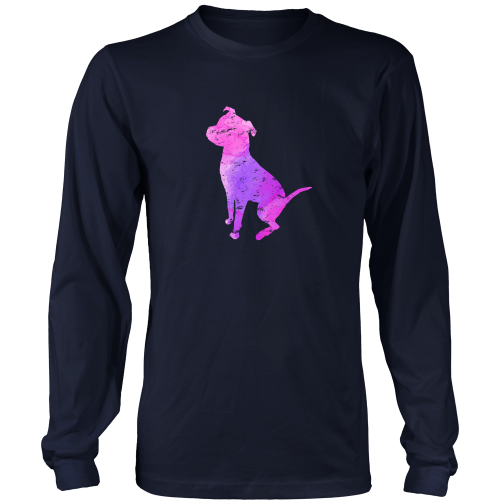 Pit Bull Watercolor Long Sleeve T-Shirt