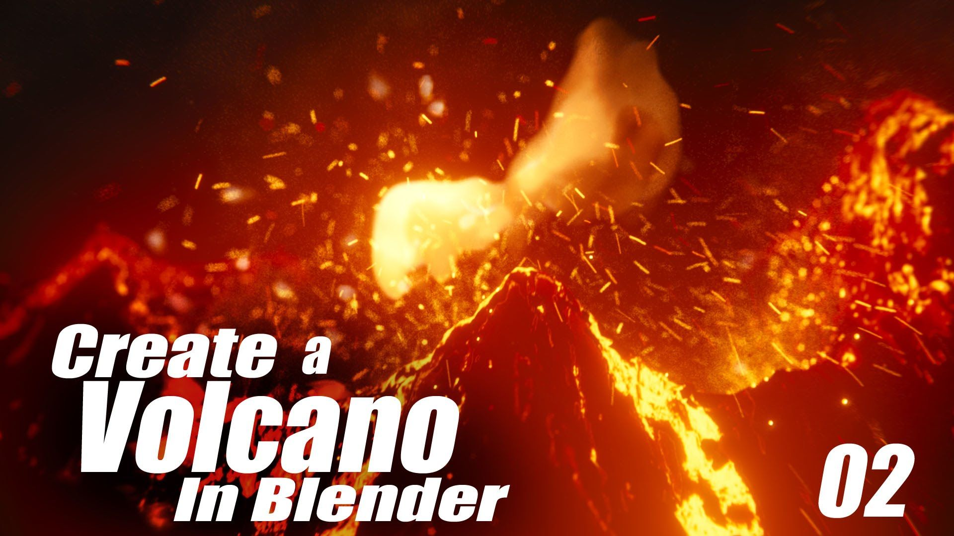 Create an Animated Volcano in this Blender Tutorial! Part