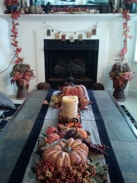 Finally done decorating for fall!