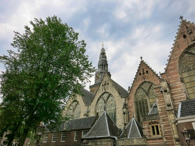 Things to do in Amsterdam – Visit the Oude Kerk (Old Church)   http://mikestravelguide.com/things-to-do-in-amsterdam-visit-the-oude-kerk/ #travel #church #holland
