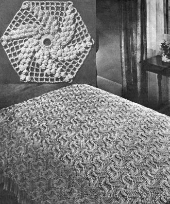 Crochet Bedspread Patterns Free Downloads | Popcorn Pinwheel ...